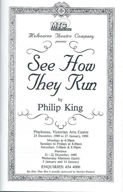 See How They Run by Philip King Art Centre Playhouse Melbourne 1990 Sally Cooper, Judith McGrath, Paul English, Nicki Wendi, Richard Piper, Dennis Coard, Noel Ferrier, Alan Andrews, Cliff Ellen