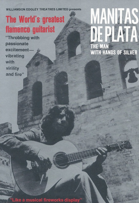 Manitas De Plata - The Man with Hands if Silver Australian Tour 1970's Manitas de Plata (born Ricardo Baliardo; 7 August 1921 – 5 November 2014) was a flamenco guitarist born in Southern France. Despite achieving worldwide fame, he was criticized for not following certain rhythmic rules (compás) that are traditional in flamenco.