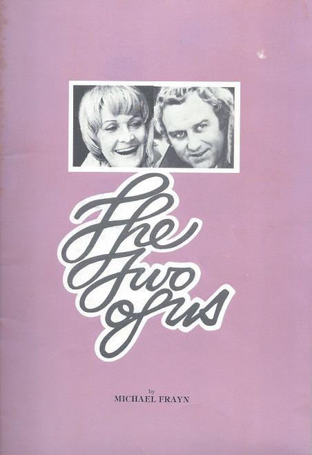 The Two of Us (Play) Souvenir Brochure  Comedy Theatre Melbourne 1977 Starring  Sheila Hancock & John Shaw