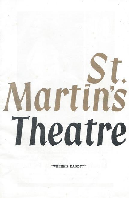 Where's Daddy by William Inge St Martin's Theatre Company 1967 Melbourne Cast: Fay Kelton, Helmut Bakaitis, Dorothy Bradley, Margaret Cruickshank, Dennis Miller, Sydney Conanere