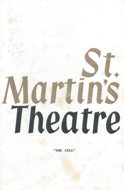 The Cell by Robert Wales St Martin's Theatre Melbourne 1966 Cast: Pauline Charleston, Sheila Florance, Moira Carleton, Patricia Kennedy, Joseph James, Julia Day, Kay Symonds, Margaret Cruickshank, Margaret Reid, Caroline Pearson, Janne Walmsley, Betty Walker, Wendy Dunn, Margaret Broughton