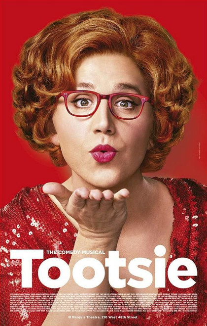 Tootsie is a musical comedy with music and lyrics by David Yazbek and a book by Robert Horn. The musical is based on the 1982 American comedy film of the same name written by Larry Gelbart, Barry Levinson (uncredited), Elaine May (uncredited) and Murray Schisgal from the story by Gelbart and Don McGuire. The musical made its world premiere try-out at the Cadillac Palace Theatre in Chicago in September 2018. Like the film, the musical tells the story of a talented but volatile actor whose reputation for being difficult forces him to adopt a new identity as a woman in order to land a job. The original movie revolved around a daytime soap opera, while the show involves a Broadway musical. Cast: Santino Fontana, Lilli Cooper, Sarah Stiles, John Behlmann, Andy Grotelueschen, Julie Halston, Michael McGrath, Reg Rogers, Nick Spangler, Jeff Kready