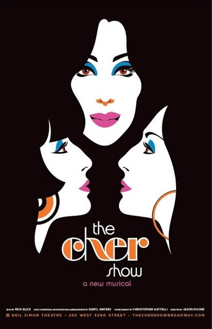 The Cher Show is a jukebox musical with a book by Rick Elice that tells the story of the early life and career of Cher. The musical had its world premiere at the Oriental Theatre, Chicago, in June 12, 2018, and opened on Broadway in December 2018. The Original Cast Album was released on digital platforms on April 12, 2019 and was released to physical CD on May 10, 2019. The Cher Show played its final Broadway performance on August 18, 2019.