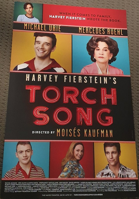 Torch Song - Broadway - The Hayes Theater Michael Urie, Jack Difalco, Ward Horton, Roxanna Hope Radja, Michael Rosen, Mercedes Ruehl – 2nd Stage It's 1979 in New York City and Arnold Beckoff is on a quest for love, purpose and family. He's fierce in drag and fearless in crisis, and he won't stop until he achieves the life he desires. Now, Arnold is back…and he's here to sing you a torch song. The Tony Award®-winning play that forever changed the trajectory of Broadway returns for a new generation.