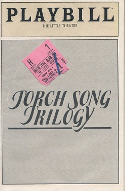 Torch Song Trilogy (Play) - 1982 The Little Theatre Broadway Richard De Fabees, Estelle Getty, Peter Ratray