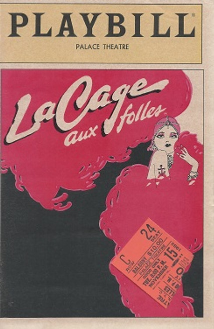 La Cage Aux Folles by Jerry Herman (Nov 1983), George Hearn, Gene Barry OBC  Palace Theatre