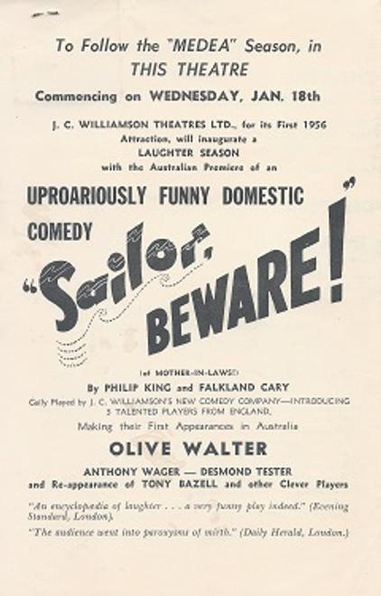 Meda - Comedy Theatre Melbourne 1955 Starring Judith Anderson