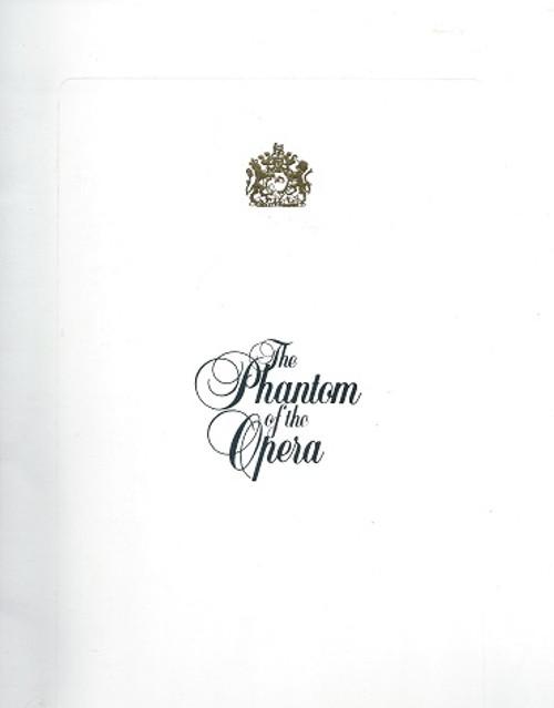 Phantom of the Opera 1991 - USA Tour Fort Lauderdale Souvenir Brochure  Kevin Gray, Teri Bibb, Keith Buterbaugh