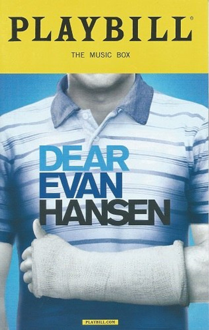 Dear Evan Hansen (March 2018) Playbill / Program  Taylor Trensch, Phoenix Best, Laura Dreyfuss, Mike Faist, Rachel Bay Jones, Michael Park, Will Roland, Jennifer Laura Thompson