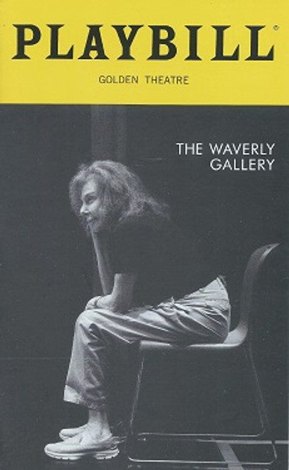 The Waverly Gallery Playbill Oct 2018 Play by Kenneth Lonergan Cast: Elaine May, Joan Allen, Michael Cera, Lucas Hedges, David Cromer