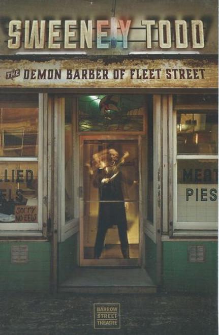 Sweeney Todd  Off Broadway Playbill / Program Barrow Street Theatre Cast: Jeremy Secomb, Matt Doyle, Siobhan McCarthy, Betsy Morgan, Duncan Smith, Alex Finke, Brad Oscar, Joseph Taylor