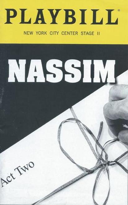 Nassim - Off Broadway - New York City Center Stage II Playbill / Program Dec 2018 Written and Performed by Nassim Soleimanpour