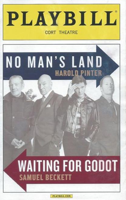 No Mans Land & Waiting for Godot  Nov 2013 Playbill / Program - Cort Theatre Billy Crudup, Shuler Hensley, Ian McKellen, Patrick Stewart