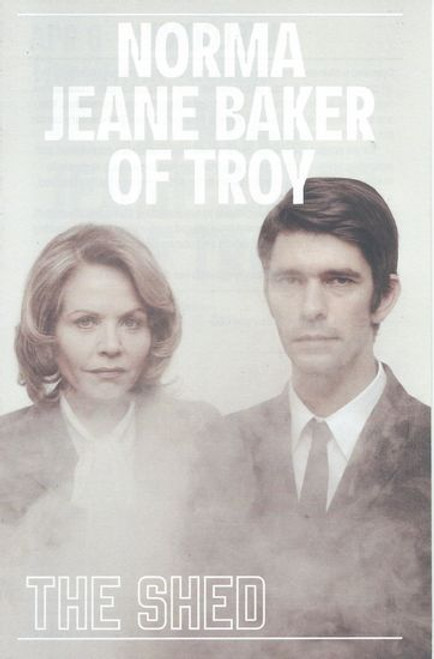 Norma Jeane Baker of Troy - Off Broadway April 2019 Playbill / Program - The Shed NYC Cast: Ben Whishaw, Renee Fleming