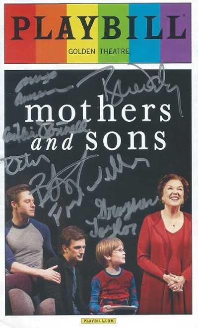 Mothers and Sons June 2014 Pride Edition Playbill / Program - Signed by All Cast Members Tyne Daly, Frederick Weller, Grayson Taylor, Bobby Steggert
