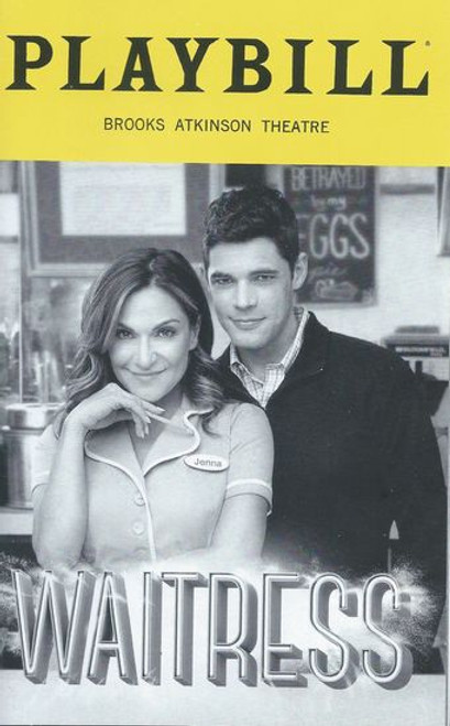 Waiterss Broadway - Brooks Atkinson Theatre Playbill / Program May 2019 With Shoshana Bean, Jeremy Jordan