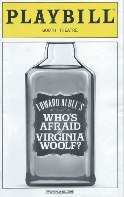 Who's Afraid of Virginia Woolf ? (Play)  Playbill Amy Morton, Tracy Letts, Madison Dirks, Carrie Coon Booth Theatre (Dec 2012)