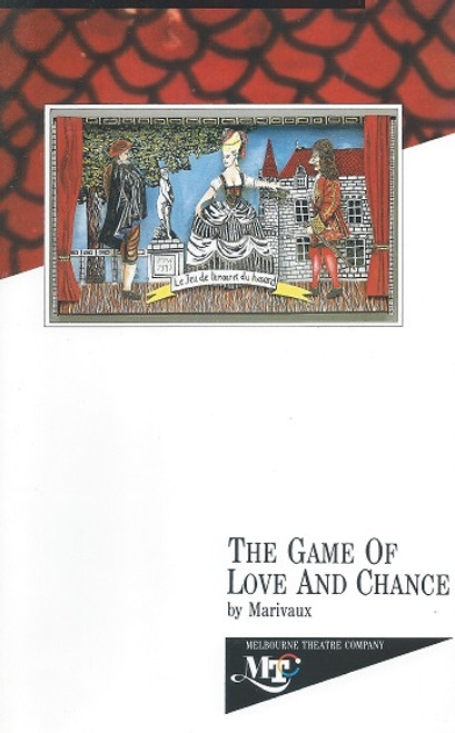 The Game of Love and CHance by Marivaux Cast - Tammy McCarthy, Peter O'Brien, Alison Whyte, Ernie GRay, James Benedict, Bob Hornery