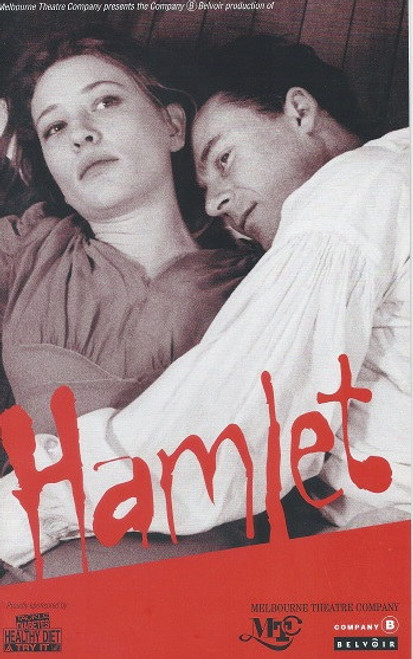 Hamlet by William Shakespeare Cast : Cate Blanchett, Peter Carroll, Jason Clarke, Ralph Cotterill, Gillian Jones, Russell Kiefel, Jacek Koman, Keith Robinson, Richard Roxburgh, Geoffrey Rush, Kevin Smith, David Wenham