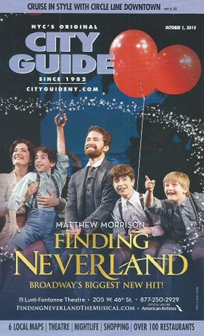City Guide New York City Featuring Opening of Finding Never Land on Broadway Oct 2015
