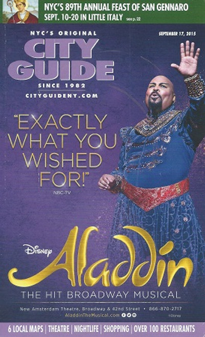 City Guide New York City Featuring Opening of Aladdin on Broadway Sept 2015