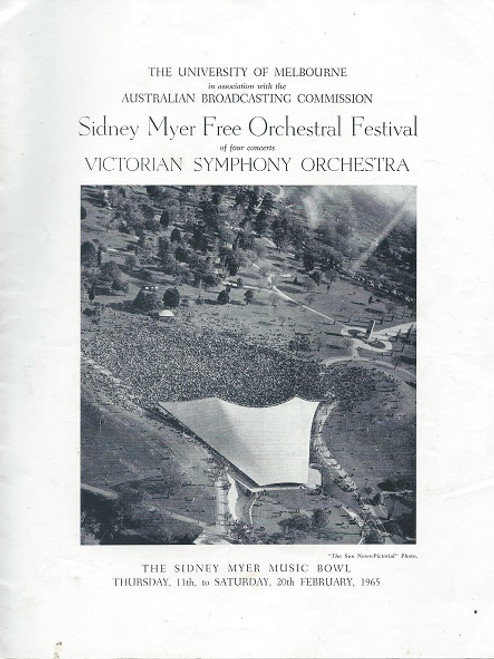 Victorian Symphony Orchestra Sidney Myer Music Bowl 1965