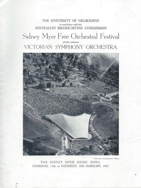 Victorian Symphony Orchestra Sidney Myer Music Bowl 1965