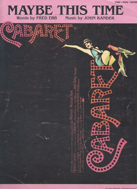 Cabaret 1972 Movie Sheet Music Maybe This Time Words by Fred Ebb Music by John Kander