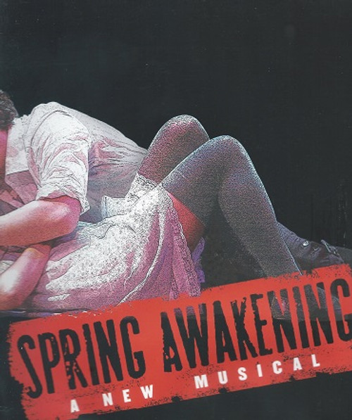 Spring Awakening - Jonathan Groff, Lea Michele May 2007 Souvenir Brochure / Program - Water Damage