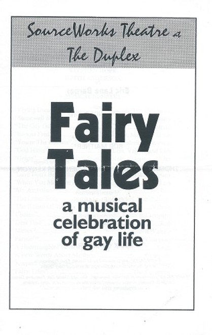 Fairy Tales a Musical Celebration of Gay Life Sourceworks Theatre at The Duplex NYC 1997 Cast: Keith Anderson, Lisa Gold, Valerie Hill, Stephen Hope, Rob Maitner