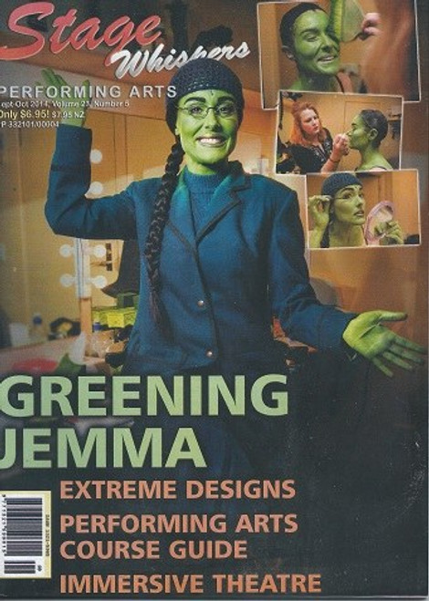 Stage Whispers Magazine Australia Sept -Oct 2014  This edition features Backstage with Emma Rix in Wicked, Helpman Awards 2014