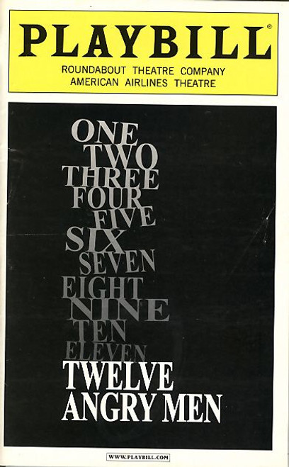 Twelve Angry Men is a play by Reginald Rose adapted from his 1954 teleplay of the same title for the CBS Studio One anthology television series, Tom Aldredge, Mark Blum, Philip Bosco, Larry Bryggman, Robert Clohessy, Peter Friedman, Boyd Gains, Kevin Geer, Michael Mastro, Matte Osian, John Pankow, James Rebhorn, Adam Trese