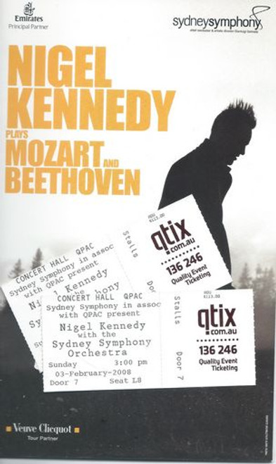 Nigel Kennedy and Sydney Symphony Orchestra 2008 Brisbane Australia