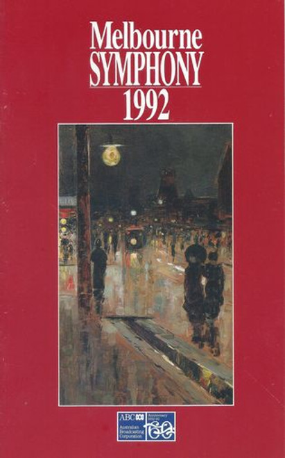 Melbourne Symphony Orchestra Geelong Series 1992 Conductor Janos Furst