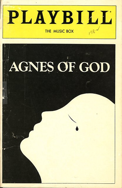 Agnes of God is a play by John Pielmeier which tells the story of a novice nun who gives birth and insists that the dead child was the result of a virgin conception.