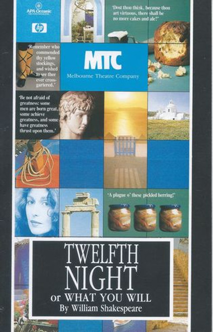 Twelfth Night MTC - Frank Gallacher, Tom Gutteridge, Mark Little, Helen Morse, Douglas Hedge, Vic Rooney, Anne Phelan, Keith Robinson, John McTernan, Barbara Stephens, Bruce Myles, Paul English, Kurt Geyer