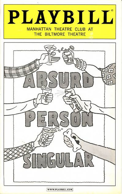 Absurd Person Singular is a 1972 play by Alan Ayckbourn. Divided into three acts, it documents the changing fortunes of three married couples. Each act takes place at a Christmas celebration at one of the couples' homes on successive Christmas Eves.
