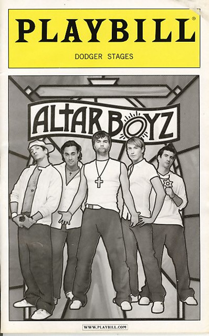 Altar Boyz is a musical comedy with music and lyrics by Gary Adler and Michael Patrick Walker and book by Kevin Del Aguila (based on an idea by Ken Davenport and Marc Kessler)