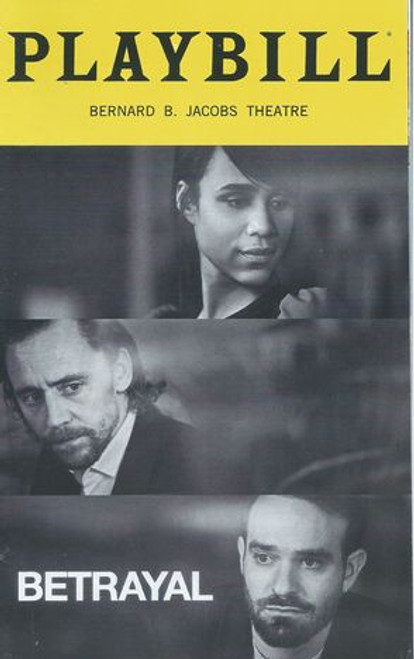 Betrayal Cast - Tom Hiddleston, Zawe Ashton, Charlie Cox, Eddie Arnold, Jesmille Darbouze, Dylan S Wallach Director - Jamie Lloyd
