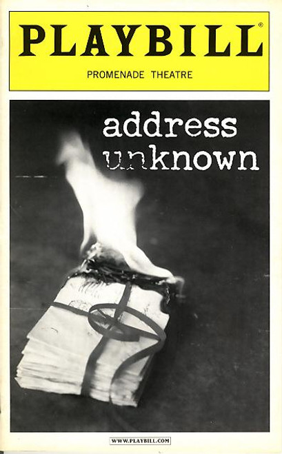 Based on a short 1938 novel by Kathrine Taylor, Address Unknown ('Adressat unbekannt' – or rather: 'Addressee Unknown') is the story of Max Eisenstein and Martin Schultz, two men with much between them.