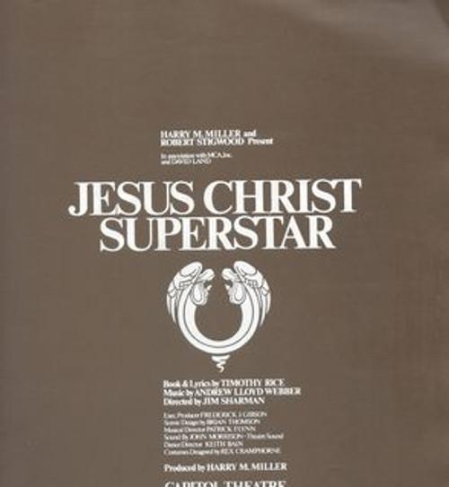 Jesus Superstar Cast - Trevor White, Jon English, Michele Fawdon, Robin Ramsay. Program Has First Night Gold Sticker on Cover