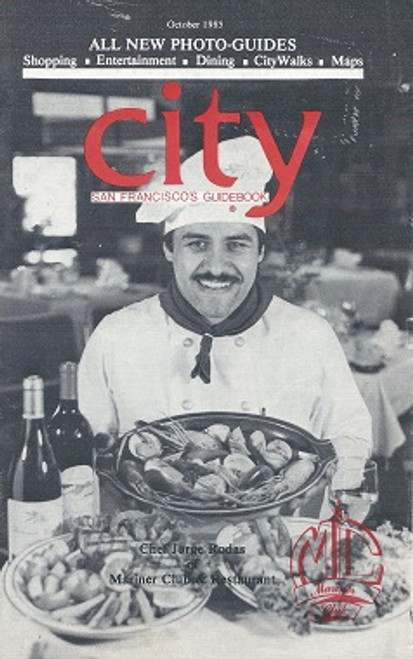 City Guide Book SFO 1985 includes Shopping, Entertainment, Dining, City Walks and Maps