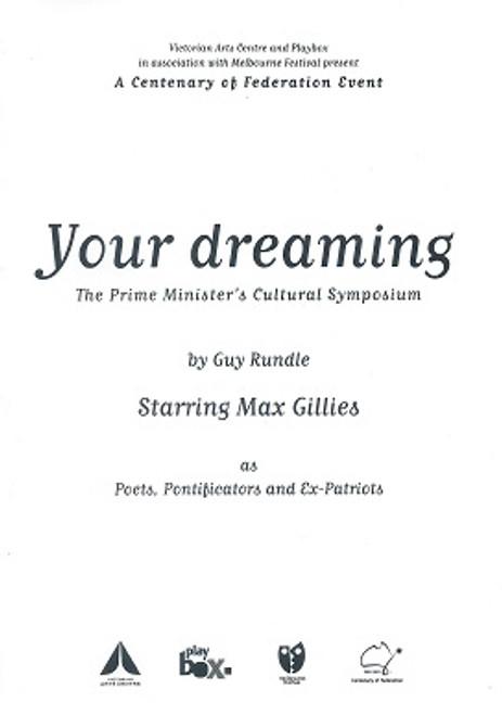 Your Dreaming Cast - Max Gillies Director - Aubrey Mellor