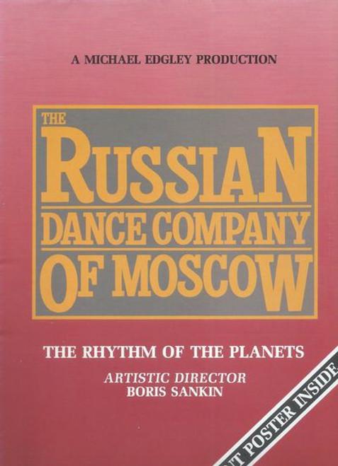 Russian Dance Company of Moscow Australian Tour 1987 Choreographer and Artistic Director Boris Sankin