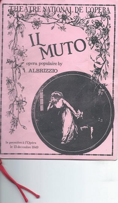 Phantom of the Opera - Broadway Props Prop Program for Opera - Il Muto