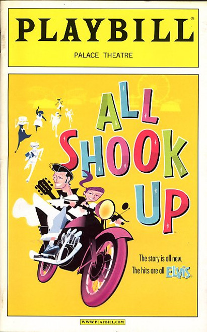 All Shook Up is a jukebox musical with Elvis Presley music, with a book by Joe DiPietro. The story is based on William Shakespeare's Twelfth Night.