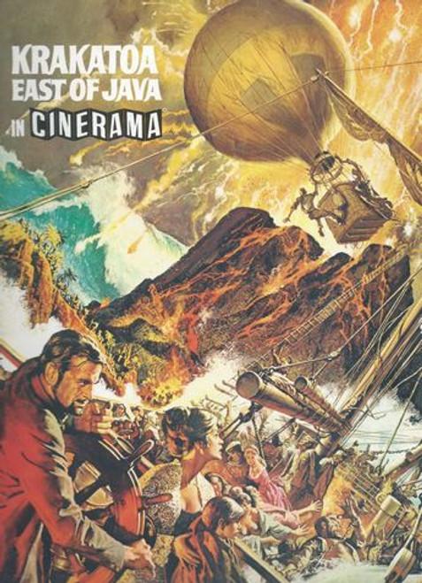 Krakatoa East of Java - 1968 (Film) Maximilian Schell, Diane Baker, Brian Keith, Barbara Werle, John Leyton, Sal MineoRossano Brazzi Program Date  1968 Printed in UK