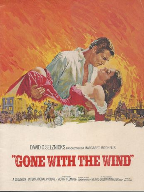 Gone With the Wind Starring - Vivien Leigh, Clark Gable, Leslie Howard, Olivia De Havilland, Hattie McQueen, Butterfly McQueen, Thomas Mitchell, Barbara O'Neil Program Date  1939 - This program is from the 70mm Release in Australia 1960's