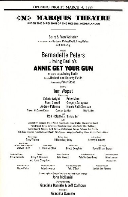 Annie Get Your Gun is a musical with lyrics and music written by Irving Berlin and a book by Herbert Fields and his sister Dorothy Fields.
