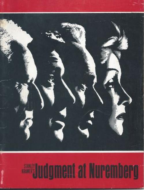 Judgment at Nuremberg Starring: Spencer Tracy, Burt Lancaster, Richard Widmark, Marlene Dietrich, Maximilian Schell, Judy Garland, Montgomery Clift, William Shatner Program Date  1969  Pages 32